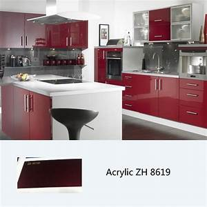 high gloss kitchen cabinet customized kitchen cabinets With kitchen colors with white cabinets with clear sticker printing