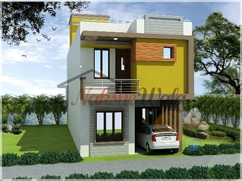 small front elevation design duplex house