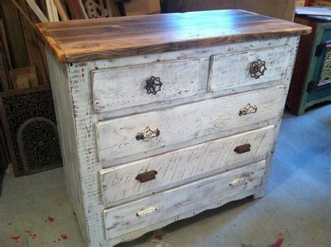 Custom Made Captain's Dresser In Antique Whitewash by