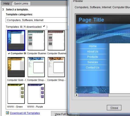 create   website  yahoo sitebuilder offers  templates