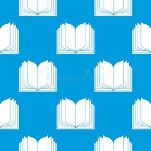 Open Book Seamless Background Stock Vector