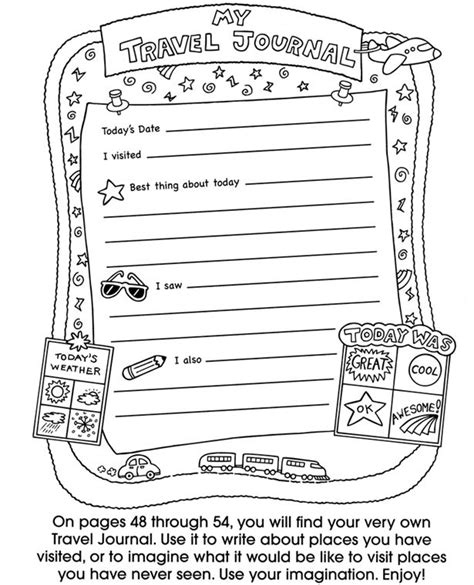 freeprintabletraveljournalpagestemplates activities