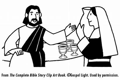 Cana Jesus Wine Coloring Water Into Bible