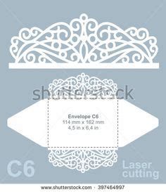 c6 envelope template ai printable laser cut wedding invitation template vector