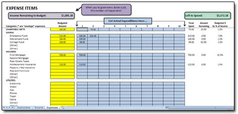 excel monthly cash flow budget spreadsheet based