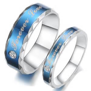 wedding bands for couples titanium stainless steel mens promise ring wedding bands matching set 3421 at 24
