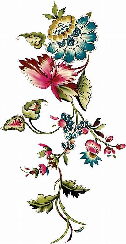 Textile Digital Fabric Embroidery Patterns Flowers Flower