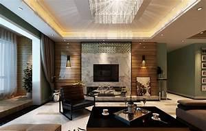 Modern living room tv wall lighting ideas