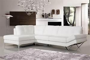 Canape Angle Cuir Blanc : canape d 39 angle lugano cuir reconstitue blanc gauche canap topkoo ~ Teatrodelosmanantiales.com Idées de Décoration