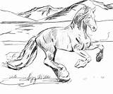 Realistic Coloring Pages Unicorn Horse Wild Printable Getcolorings sketch template