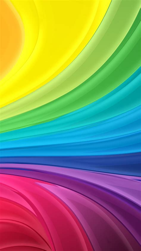 wallpaper colorful rainbow waves  abstract