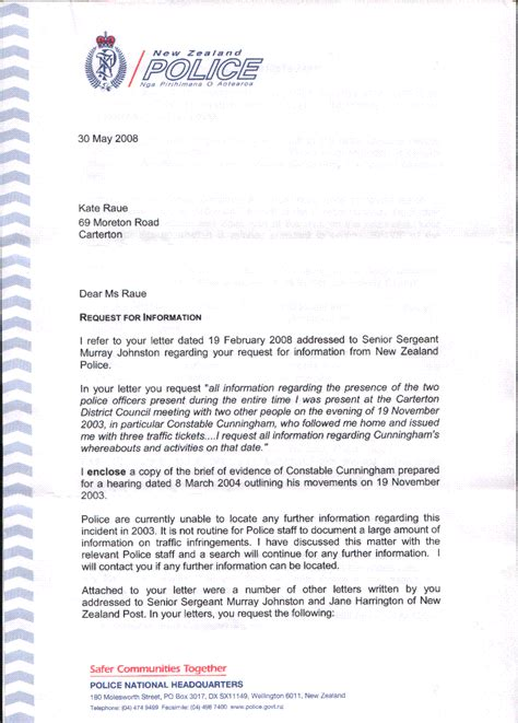 business letter format  zealand sample business letter