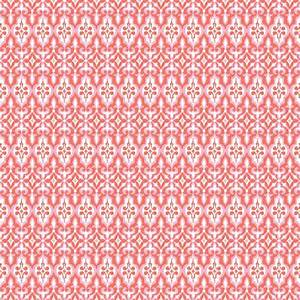 ironwork coral ikat turkish delight fabric yard by With ikat fabric coral
