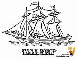 Coloring Ship Sailing Ships Tall Colouring Boats Boys Yescoloring Sky sketch template
