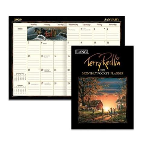terry redlin monthly pocket planner