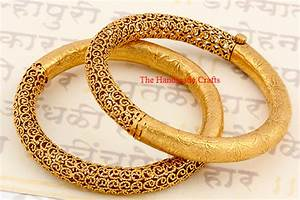 Light Weight Gold Bangles Designs - The Handmade Crafts