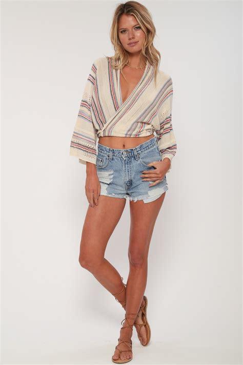 shorts rompers for dancer crop wrap top in stevie nicks 39 goddis knitwear