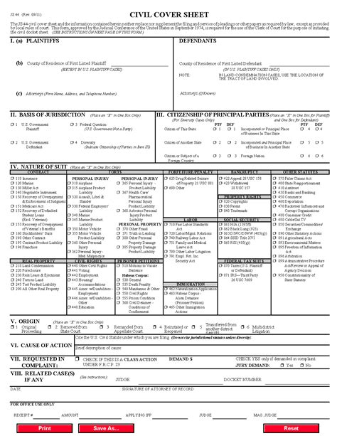 form js  civil cover sheet cmecf version