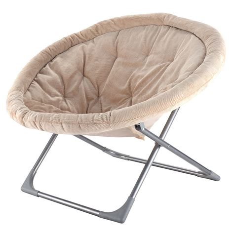 folding saucer chair oversized large folding saucer moon chair corduroy