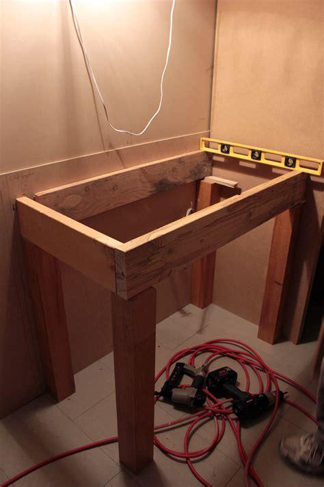 open shelf vanity plans  woodworking