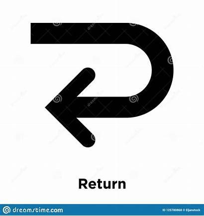 Return Icon Symbol Isolated Concept Concetto Ritorno