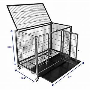 New 37quot homey pet open top heavy duty dog pet cage kennel for Open top dog kennel