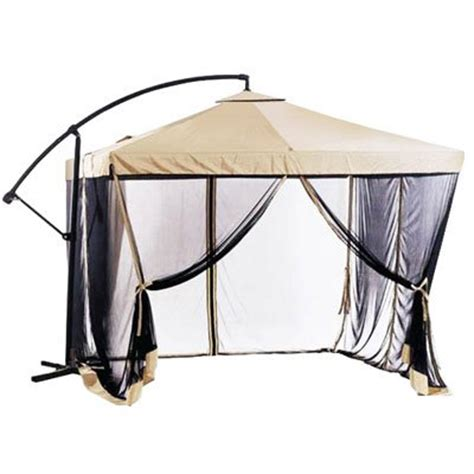 Patio Umbrella With Netting by Worth Buying Offset Patio Umbrella Instant Gazebo With