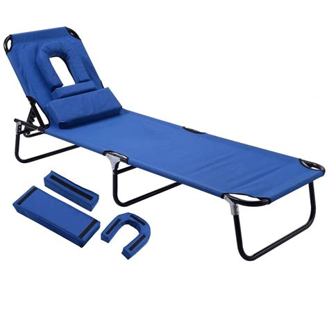 Outdoor Tri Fold Lounge Chair by Outdoor Sun Chaise Lounge Recliner Patio Cing Bed
