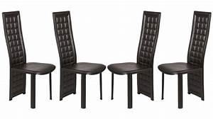 Chaise En Cuir Noir : chaise en cuir noir le monde de l a ~ Teatrodelosmanantiales.com Idées de Décoration