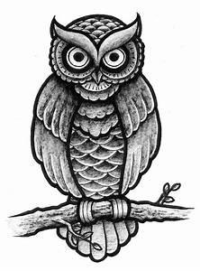 Traditional owl design full shading by Patsurikku on ...