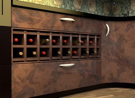 incorporate  wine rack   kitchen counter