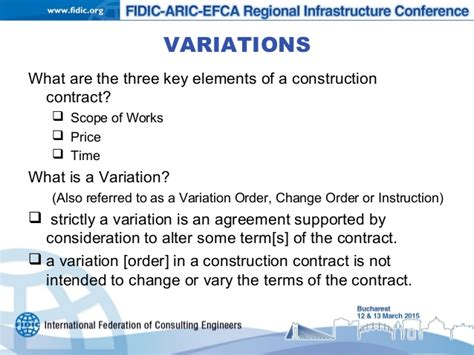 construction work order format variations under the fidic form subject to eu procurement law