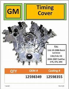 Gm Timing Cover 2 8l  3 6l  349