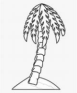 Tree Palm Coloring Bare Clip Cartoon Silhouette Netclipart sketch template