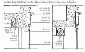 the regulations signsbrands and facades of character With volet roulant magasin