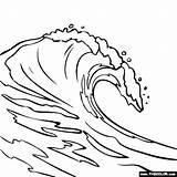 Coloring Wave Tsunami Template sketch template