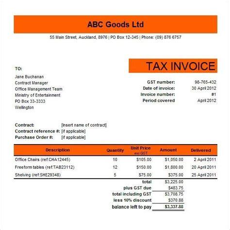 tax invoice template ato invoice pinterest