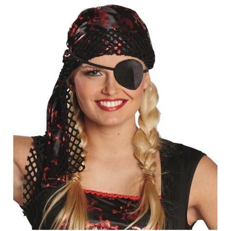 bandana pirate noir rouge adulte bandana pirate femme