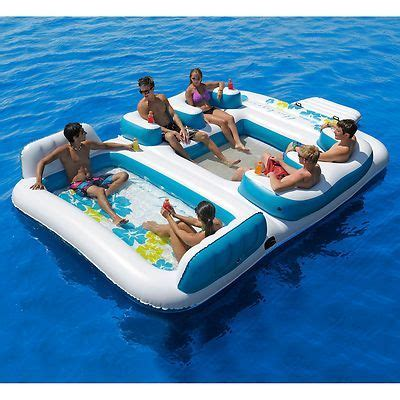 details   person inflatable blue lagoon pool float