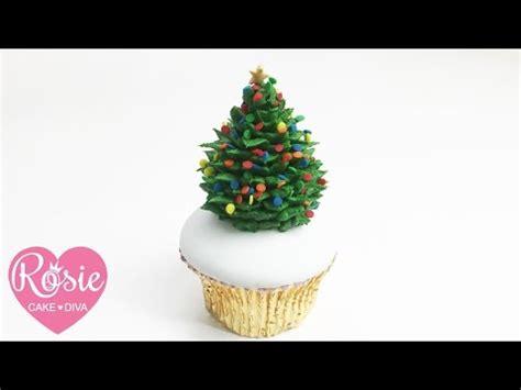 how to make a buttercream christmas tree cupcake youtube