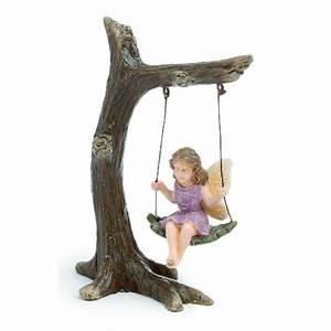 Vintage Style - Woodland Fairy on a Tree Swing