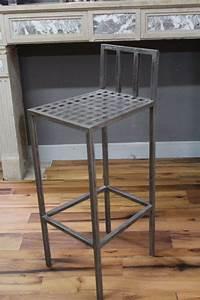 Chaise De Bar Haute : chaise haute de bar en fer hauteur chaise 95 cm ~ Teatrodelosmanantiales.com Idées de Décoration