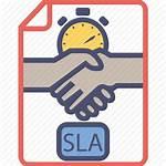 Sla Icon Service Agreement Level Contract Document