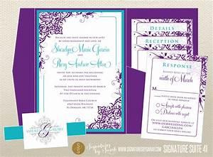 wedding invitation templates purple and turquoise wedding With free wedding invitation templates turquoise