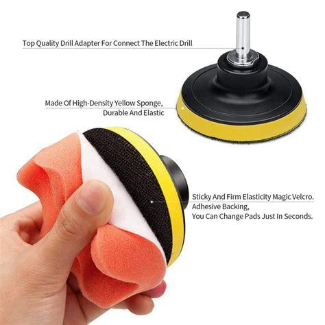 car foam drill polishing pad kit  pcs   buffing