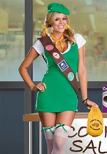 Cookie Girl Scout Fancy Dress Costume | Womens Sexy School Girl u0026 Guide Party Outfits