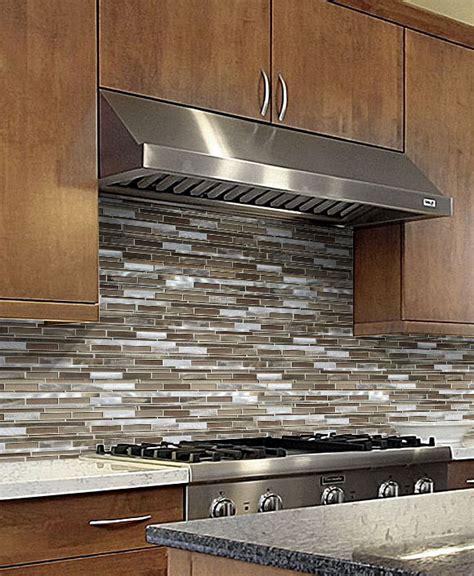 Glass Mosaic Tile Kitchen Backsplash by Brown Metal Glass Mixed Mosaic Kitchen Backsplash Tile