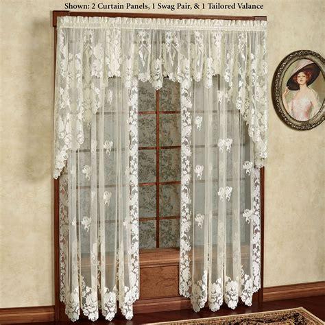 lace panel curtains floral lace window treatment