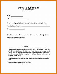 notice to vacate tenant template choice image download With template for 60 day notice to vacate