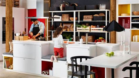 ilot dans cuisine cuisine ikea d